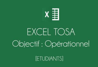 Protégé: EXCEL – TOSA – Opérationnel