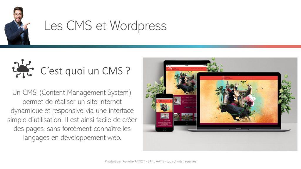 Un CMS (Content Management System) permet de réaliser un site internet dynamique et responsive via une interface simple d'utilisation. Il est ainsi facile de créer des pages, sans forcément connaître les langages en développement web.